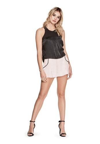 Guess pink Bijoux Ruffle Shorts GU020AA0GMYCSG_1