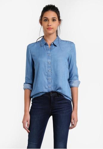 Calvin Klein blue Wanda Indigo Lean Shirt - Calvin Klein Jeans CA221AA0RWU2MY_1