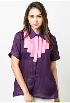 Plus Size Munch Short Sleeves Blouse