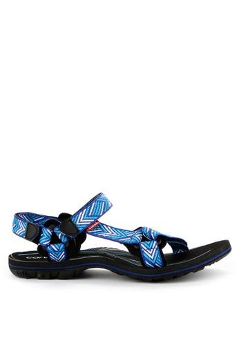 CARVIL Blue And Multi Carvil Sandal Gunung Ladies Xandria 02 Gl Black Royal