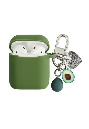 Kings Collection green Avocado Keychain AirPods Case (KCAC2004) 927F8ACC855F04GS_1