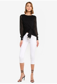 cfc5b436d7 Dorothy Perkins I Black Jersey Long Sleeve Top RM 139.00. Available in  several sizes