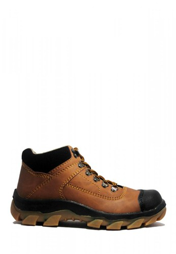 Cut Engineer brown Cut Engineer Safety Boots Steal Composite Brown Leather 62A5CSHE08ECDEGS_1