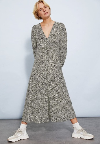 H&M black and multi Puff-Sleeved Dress 8FA2EAA726C644GS_1
