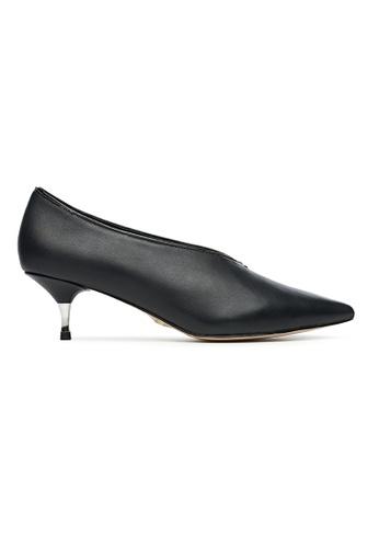 Byford black Elaine V-neck Heels 3F1BCSHC8781D6GS_1