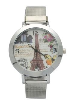 London butterfly Silver Mesh Watch