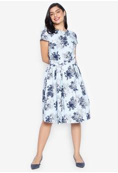 5681efce1f9 Dorothy Perkins multi Floral Cotton Fit And Flare Dress 36F93AAFFA6E30GS 1