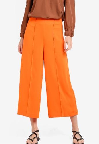 WAREHOUSE orange Pintuck Culottes WA653AA59EBOMY_1