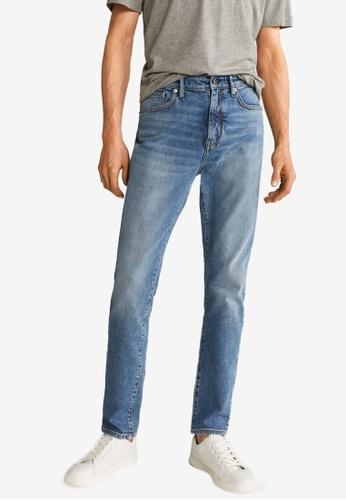 Mango Man 藍色 經典牛仔褲 6DFB6AA0CACEFEGS_1