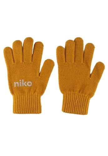 niko and ... yellow Print Gloves 5BEABACB85E099GS_1