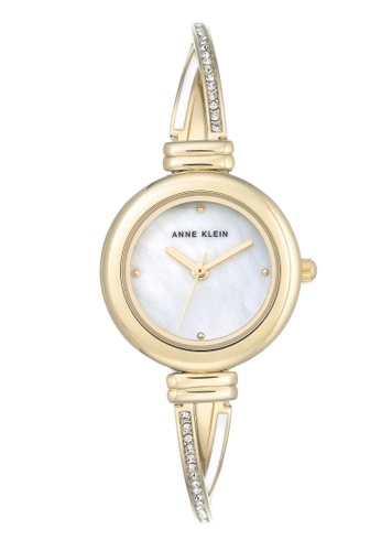 Anne Klein gold Anne Klein Women's  AK-3124MPGB Swarovski Crystal Accented Gold-Tone Quartz Metal Dress Watch 7EAD5AC6D28CB1GS_1