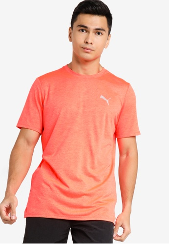 PUMA orange Favourite Heather Short Sleeves Men's Running Tee F1C33AA0B6D990GS_1