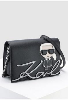 01263318585a KARL LAGERFELD Ikonik Shoulder Bag RM 1