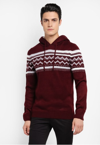 River Island red Artic Hooded Fairilse Jumper RI009AA0SRKMMY_1