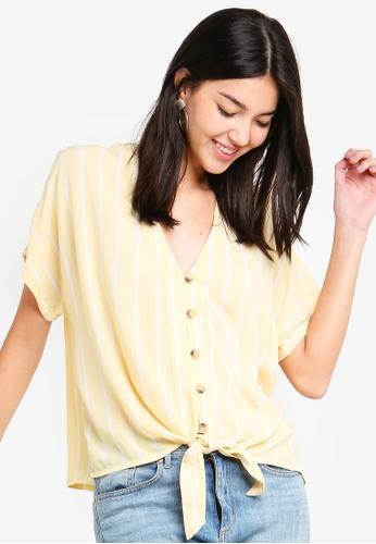 Dorothy Perkins yellow Yellow Stripe Top 2E614AAAED93E3GS_1