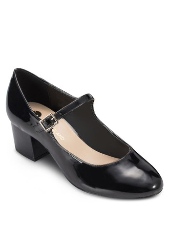 Mary Jane 圓頭仿皮粗跟鞋、 女鞋、 鞋RiverIslandMaryJane圓頭仿皮粗跟鞋最新折價