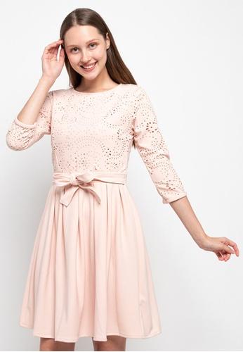 CHANIRA LA PAREZZA pink Chanira La Parezza Radelle Fit & Flare Dress 7B045AAEEC6D14GS_1