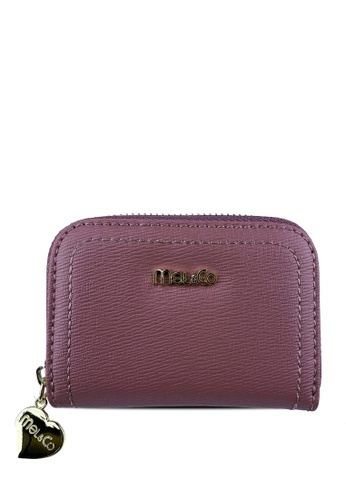 Mel&Co pink Faux Leather Zipped Around Card Holder 3099BACC9D59C3GS_1