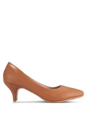 Alfio Raldo brown Pointed Toe Heels AL803SH0R9OUMY_1