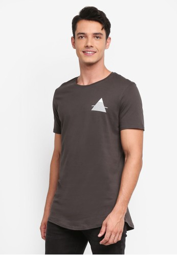 Factorie multi and grey Curved Tail Tee B360CAA39AA49FGS_1