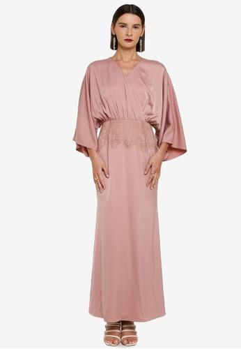 Zalia pink Wrap Dress With Lace Detail E72C4AAC1F6113GS_1