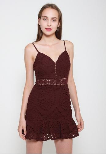 Leline Style red Taya Crotchet Dress 1465AAAF5674A7GS_1