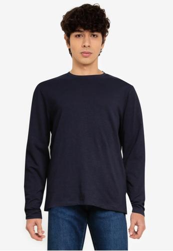 OVS blue Long-Sleeved T-Shirt 24878AA36C0A34GS_1