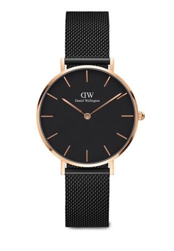 8177c72d19f8 Daniel Wellington black Classic Petite Ashfield Rose Gold Watch  DA376AC0RXVKMY 1