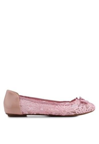 Carlton London pink Bow Lace Ballerinas 47F36SH734E282GS_1