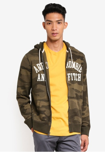 Abercrombie & Fitch 綠色 休閒連帽外套 507E0AAA119040GS_1