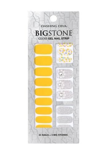 Dashing Diva yellow Dashing Diva Gloss Gel Strip Big Stone Manicure Bubblesome Thing / Nail Sticker /Nail Wraps CB69DBE7CB137AGS_1
