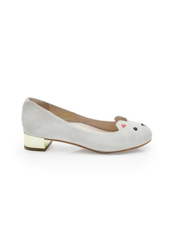 Elisa Litz white Beary Low-Heels (White) EL365SH07ZHWSG_1