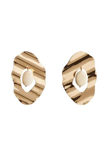 Mango gold Mixed Resin Earrings F5E4FAC1C72EF1GS_1