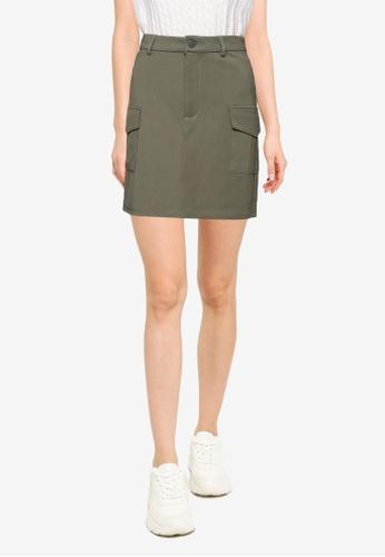 Noisy May green Hipe Palma Skirt 5E133AA3659825GS_1