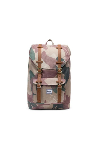 new specials new arrival 100% high quality Herschel Little America M Backpack Brushstroke Camo/Tan - 17L
