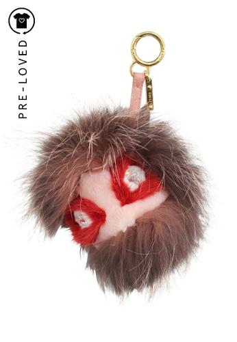 FENDI brown Pre-Loved fendi Bag Bug Fur Monster Charm B9137AC54A02ACGS_1