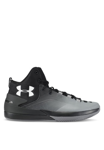 Under Armour black and white UA Rocket 3 Shoes UN337SH0SU95MY_1