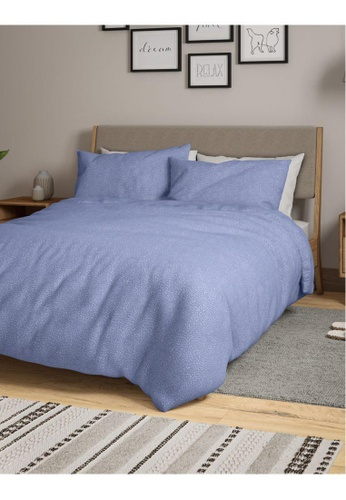 MARKS & SPENCER blue M&S 2 Pack Cotton Mix Dash Bedding Sets (Queen) B1873HLC6B152AGS_1