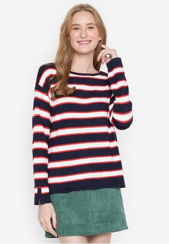 Springfield blue Double Stripe Sweater 9BF23AA1CD2767GS_1