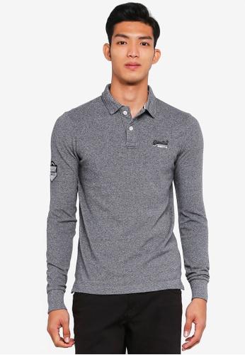 Superdry grey Classic Pique Polo Shirt 3CF4BAAEDD90EAGS_1