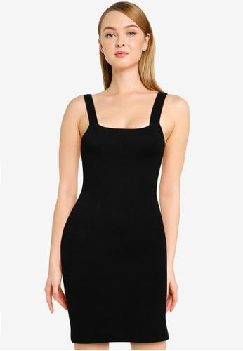 Mango black Short Knit Dress 4D7F4AAE2FA405GS_1