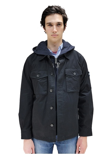 East Pole black Men's Denim Style Jacket D6B5EAA77ECD0FGS_1