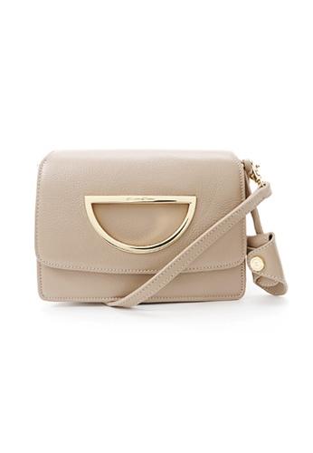 Samantha Thavasa grey and beige Samantha Thavasa Violet D Corey Leather Bag (S) 36304ACA25AFFEGS_1