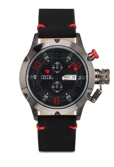 Men'S Analogue Watch With Pu Strap