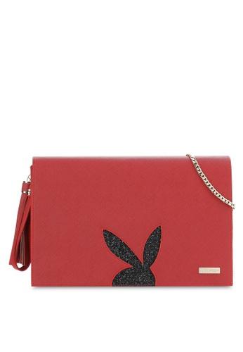 PLAYBOY BUNNY red Playboy Bunny Clutch Bag PL604AC91MTGMY_1
