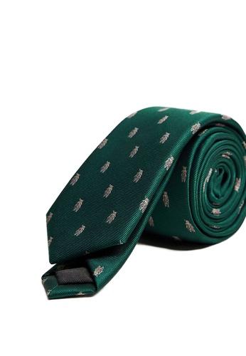 Mango Man green Insects Print Tie D5520AC6597B98GS_1