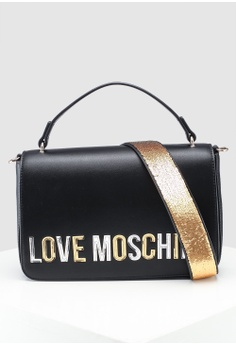 0757d31101a6e Love Moschino black Pebble Grain Shoulder Bag 80437ACC0698F8GS_1
