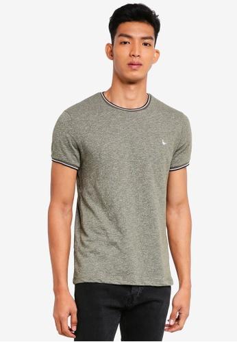 Jack Wills green Baildon Ringer T-Shirt 1F205AA60CB9A9GS_1