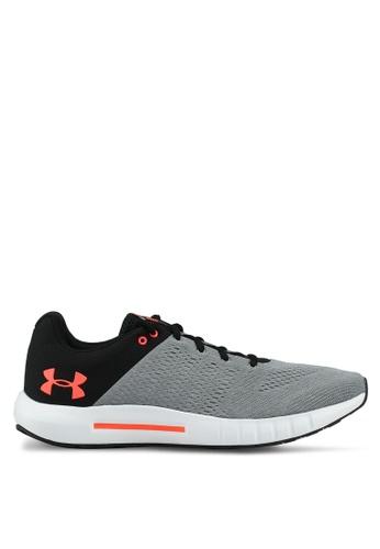 Under Armour grey UA Micro G Pursuit Running Shoes 8C3DASHF0209A6GS_1