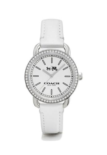 Coach silver Coach Lex Leather Strap Watch (32mm)- White/Silver F8741AC3C1E3F8GS_1